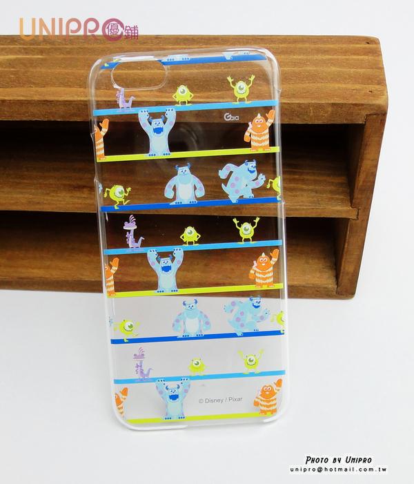【UNIPRO】iPhone 6 4.7吋 迪士尼卡通 皮克斯怪獸大學 毛怪 大眼怪 透明 硬殼TPU 手機殼 保護套