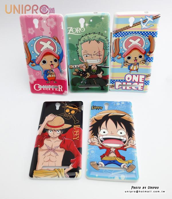 【UNIPRO】SONY Xperia C3 航海王 One Piece 手機殼 TPU 保護套 海賊王 魯夫 索隆 喬巴