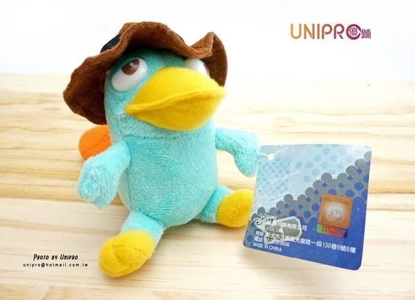 UNIPRO 迪士尼正版 飛哥與小佛 鴨嘴獸 泰瑞鴨 特務P 絨毛娃娃 玩偶 吊飾 手機防塵塞 2款