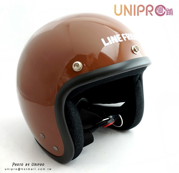 【UNIPRO】LINE 熊大臉 3/4 安全帽 騎士帽  附贈 抗UV PC鏡片