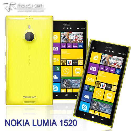 UNIPRO【NK07】Metal-Slim Nokia Lumia 1520 PC透明 皮革漆 系列 新型保護殼 手機套 送保護貼