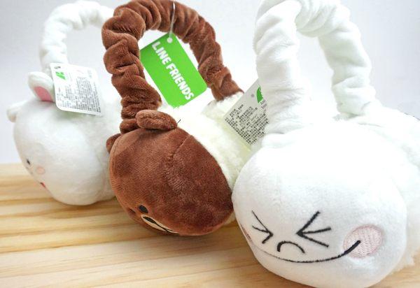 UNIPRO LINE 公仔 娃娃 表情 饅頭人 布朗熊大 可妮 兔兔 絨毛 保暖 耳罩