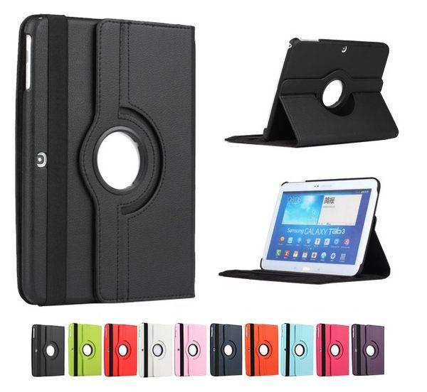 UNIPRO【N812】Galaxy Tab3 10.1 吋 P5200 360度 旋轉 荔枝紋 支架 保護 皮 套 保護殼