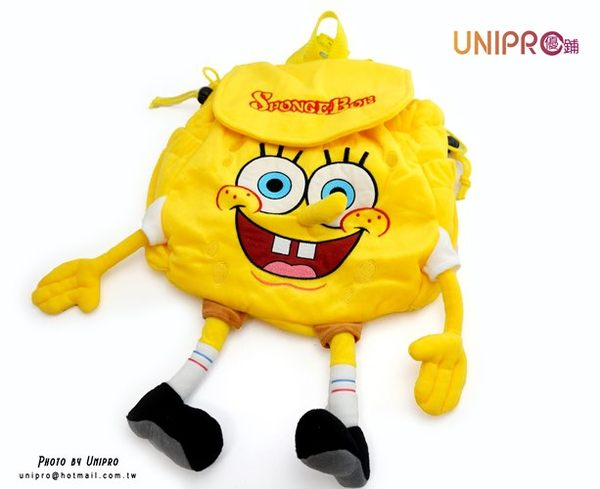【UNIPRO】海綿寶寶 SpongeBob Squarepants 絨毛 造型 後背包