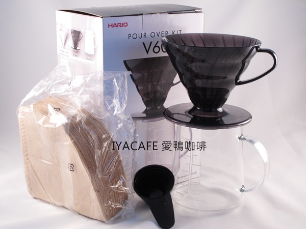 《愛鴨咖啡》HARIO ESD-02TB-EX-M V60 樹脂濾杯 滴漏咖啡壺組