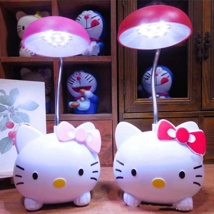 tangyizi輕鬆購【DS116】超萌 Kitty 迷你帽子款 夜燈 公仔 護眼燈 LED 充電檯燈 桌燈 生日禮物