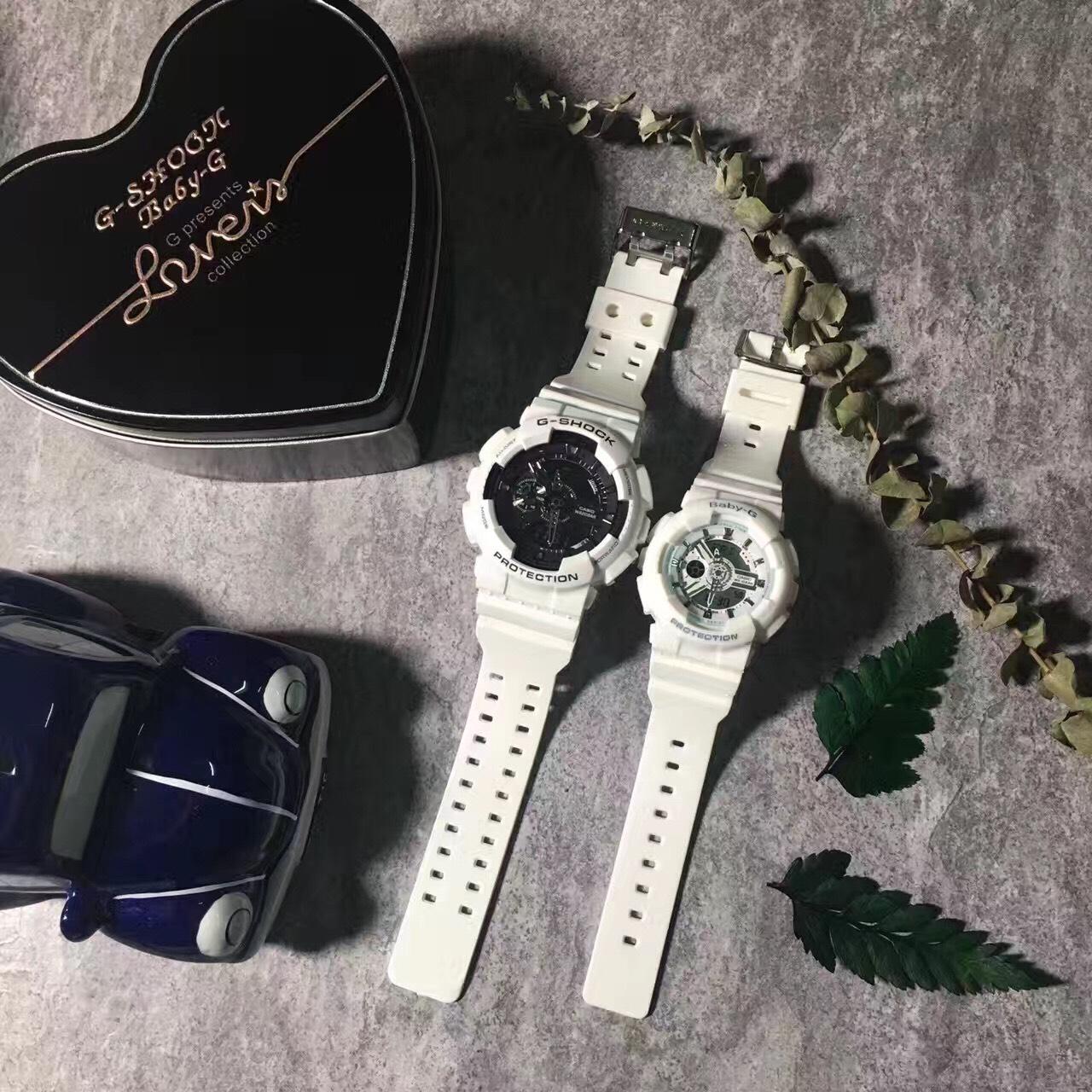 國外代購CASIO G-SHOCK GA-110 & BABY-G BA-110 情侶對錶 雙顯 防水 手錶 腕錶