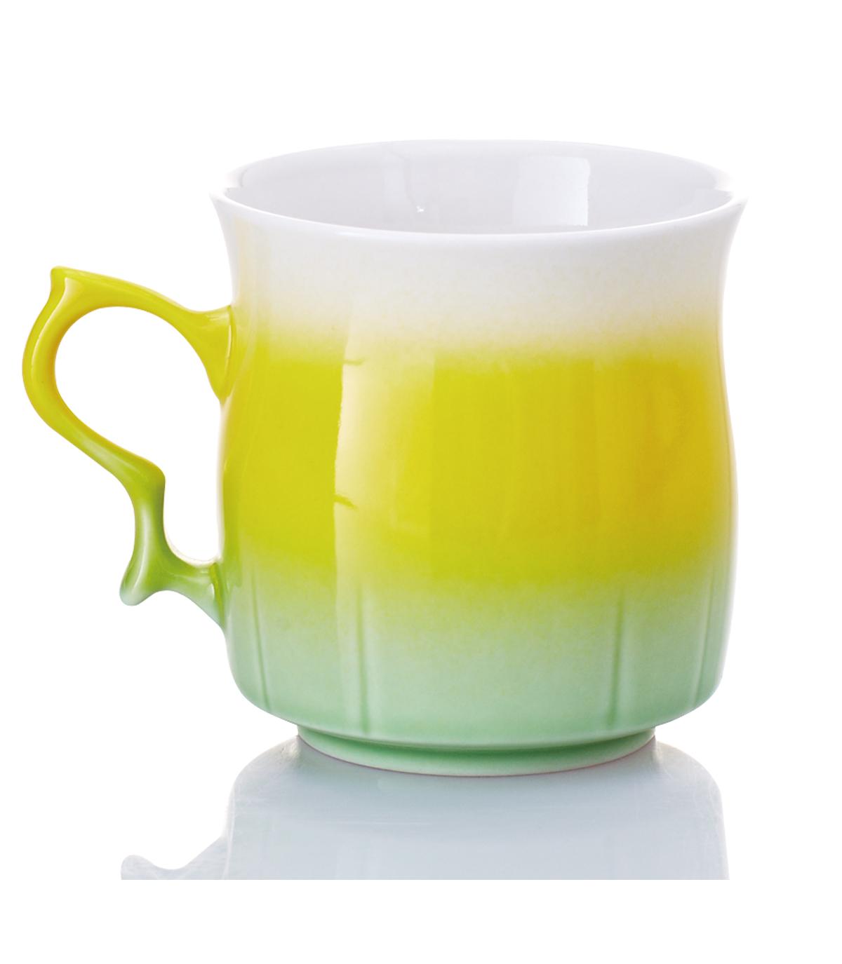 乾唐軒活瓷 ‧甜心杯 ( 黃綠 )