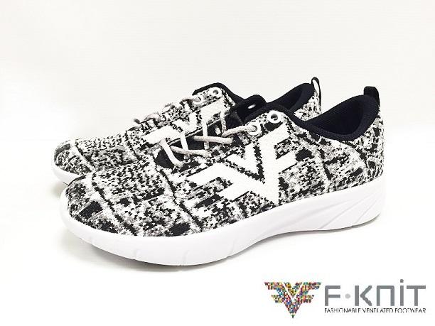 【F-KNIT時尚】 鱷紋 時尚編織休閒鞋