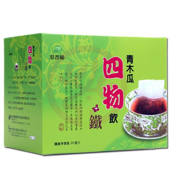 港香蘭青木瓜四物飲+鐵(6 g×20包)×1