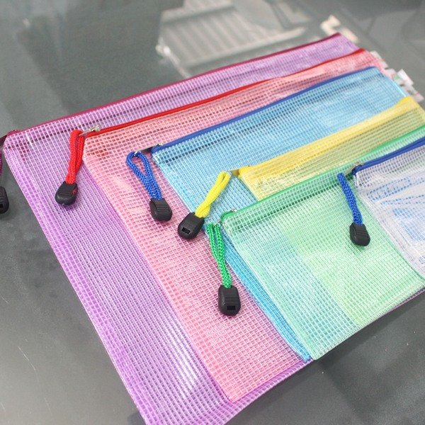 B5網格拉鏈袋 網狀拉鍊袋 CS335 網格收納袋 PVC文件袋 28.5cm x 19.5cm 透明網格袋/一箱500個入{促25}