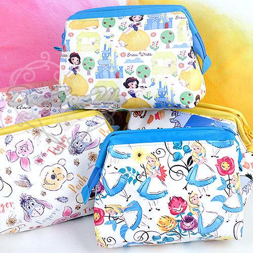 迪士尼白雪公主安娜艾利絲米奇布魯托維尼T型化妝包大容量060215海渡