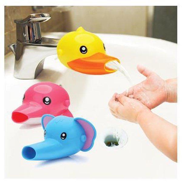 BO雜貨【SV9502】可愛卡通動物造型水龍頭延伸器 導水器 洗手器 輔助器 引水器