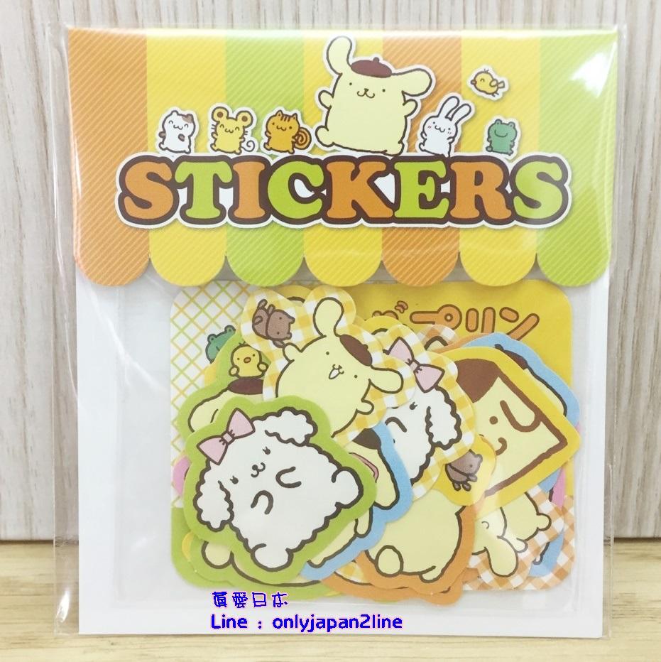 【真愛日本】16062900019日本製專賣店造型貼紙組-PN   三麗鷗家族 布丁狗   文具用品  裝飾貼紙