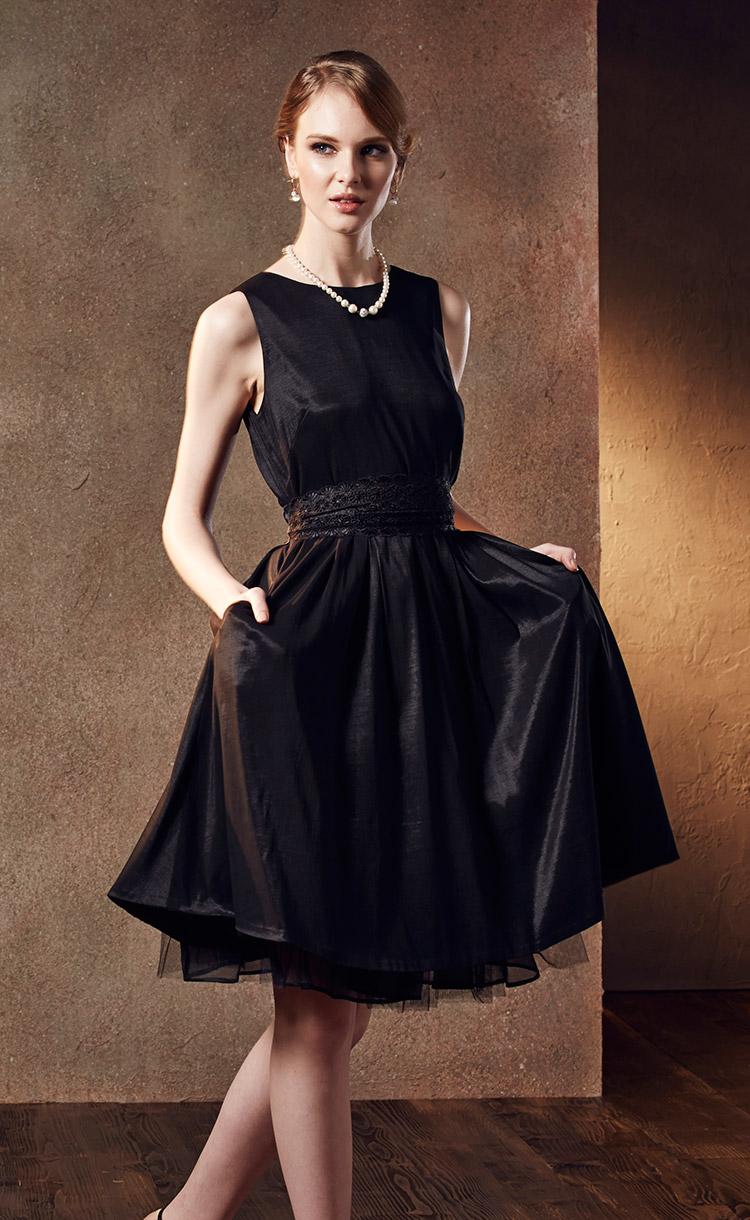 林廷芬服裝設計-Diana-經典黑色小禮服搭配網紗裙
