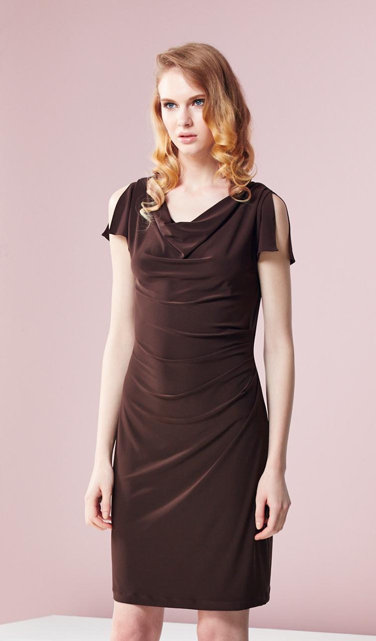 林廷芬服裝設計-Helen- V領袖口變化穿法針織洋裝