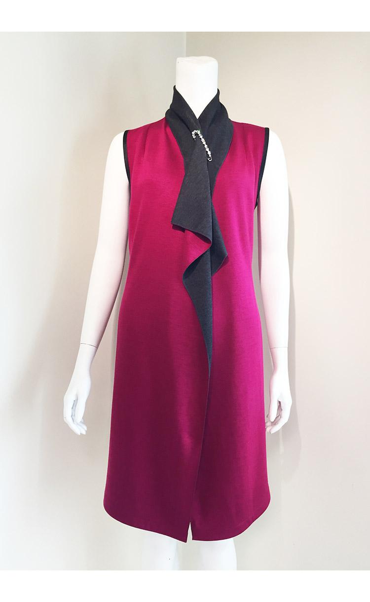 林廷芬服裝設計-Beth vari-(無袖)雙色百變罩衫