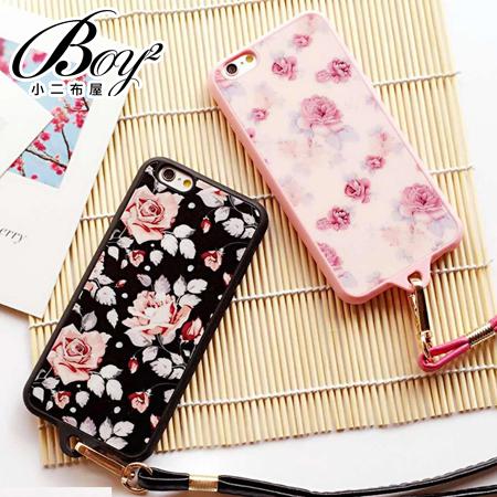 ☆BOY-2☆【N4010】日韓復古花全包邊掛繩手機殼 蘋果iPhone6 5/5s