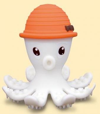 【淘氣寶寶】mombella 固齒器 樂咬咬章魚 橘色