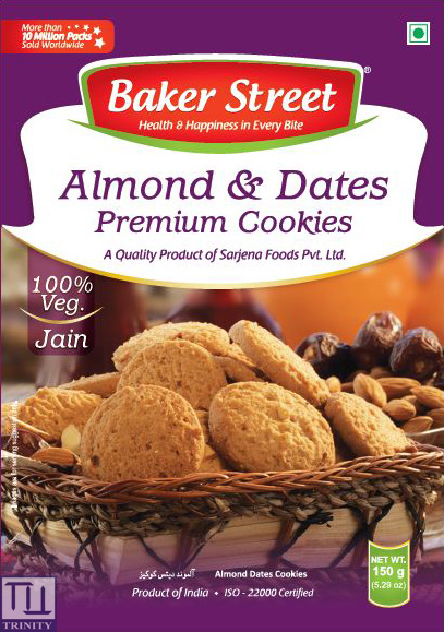 Bakers Street Almonds & Dates Cookies    印度棗子/ 杏仁烘培餅乾