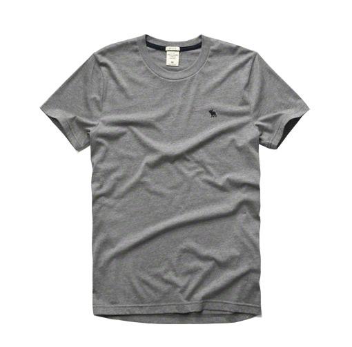 【蟹老闆】Abercrombie & Fitch【現貨】A&F 麋鹿 素面 經典 logo款  灰色鹿藍
