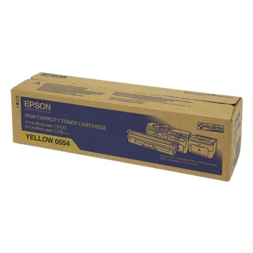 【EPSON 碳粉匣】S050554 黃色原廠碳粉/AL-C1600/CX16NF