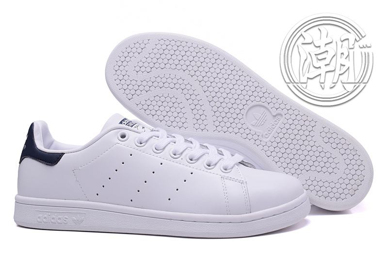 Adidas Stan Smith 街頭經典 愛迪達 史密斯 深藍 藍色 復古百搭 男女 情侶鞋 休閒鞋【T0123】潮