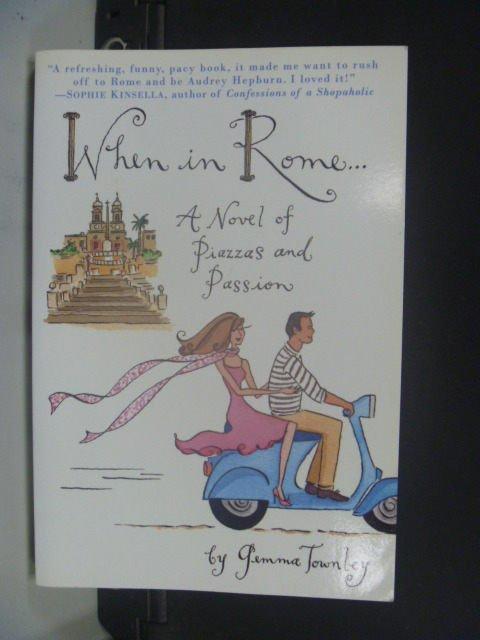 【書寶二手書T4/原文小說_JDY】When in Rome_Gemma Townley