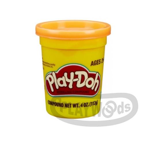 【Playwoods】[PLAYDOH][孩之寶-培樂多黏土]原料 繽粉色罐 4盎司單罐 艷光橘(DIY/安全無毒/Hasbro)