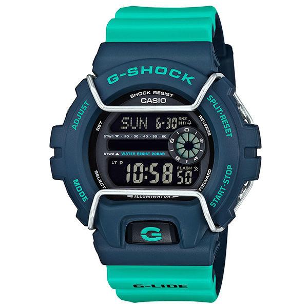 CASIO G-SHOCKGLS-6900-2A G-LIDE系列時尚運動腕錶/綠50mm