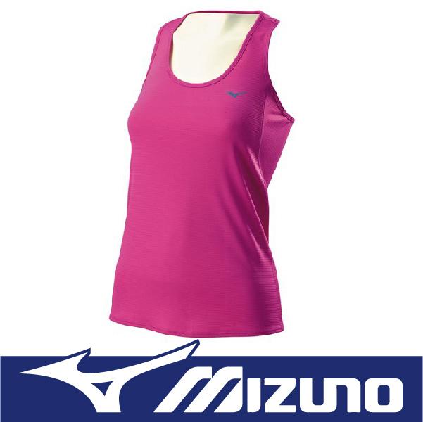 萬特戶外運動 MIZUNO 美津濃 J2TA570767 女路跑背心 吸汗快乾 反光燙印 抗紫外線UPF25 紫粉紅色