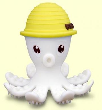 【淘氣寶寶】mombella 固齒器 樂咬咬章魚 黃色