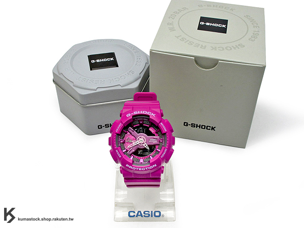 kumastock 2015 最新 46mm 錶徑 貼合女性手腕曲線 CASIO G-SHOCK GMA-S110MP-4A3DR 桃紅 MANNISH PINK 粉紅 系列 S SERIES FOR LADIES 女孩專用 !