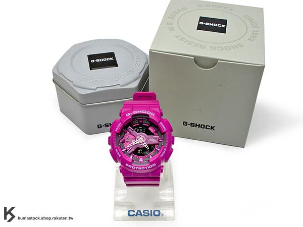 kumastock 2015 最新 46mm 錶徑 貼合女性手腕曲線 CASIO G-SHOCK GMA-S110MP-4A3DR 桃紅 MANNISH PINK 粉紅 系列 S SERIES FOR LADIES 女孩專用 !