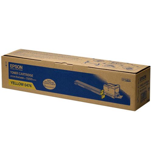 【EPSON 碳粉匣】S050474 黃色原廠碳粉匣C9200