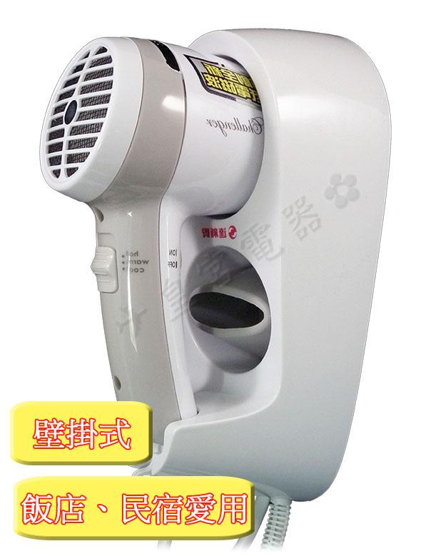 ✈皇宮電器✿ 達新牌 掛壁式吹風機 TS-1399 飯店、民宿的最愛,具冷風與自動斷電功能~