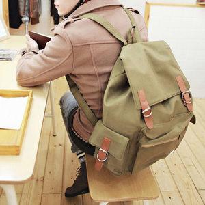 中性質感簡約皮帶釦後背包。/後背包( 包飾衣院 shape ) 【X1082】現貨+預購