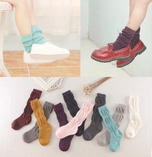 韓國  童趣娃品秋季新品 馬卡龍色堆堆襪 兒童襪子*男女寶寶*