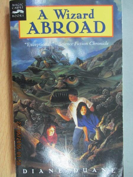 【書寶二手書T2/原文小說_MEH】A Wizard abroad_Diane duane