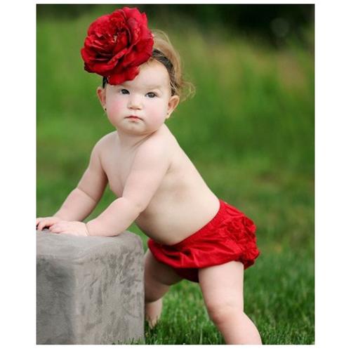 【HELLA 媽咪寶貝】美國 RuffleButts 小女童荷葉屁屁褲/包屁褲_嫣紅 Woven (RBRBW06)