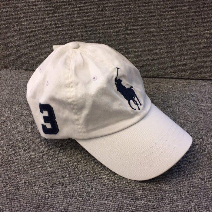 BEETLE PLUS 全新 商品 POLO RALPH BASEBALL CAP 全白 白底 馬球 大LOGO 可調式 老帽 棒球帽 MN-419