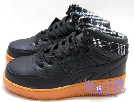 【巷子屋】MODYF 男/女款格紋拼接高統多功能鋼頭運動鞋 [2018] 黑色 超值價$690