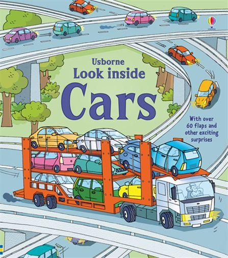 英國 Usborne 翻翻書 look inside Cars 汽車 *夏日微風*