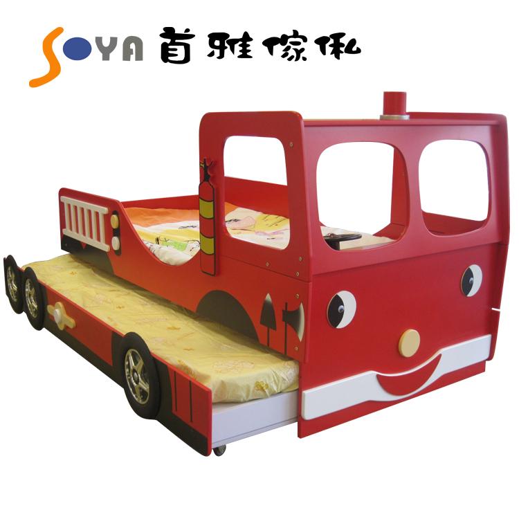 [首雅傢俬]超可愛消防車造型床(3呎)來囉! 兒童床 床架 功能床 預購
