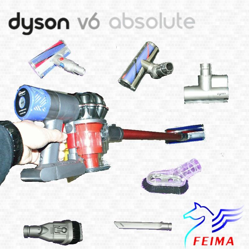 Dyson Absolute  V6 extra fluffy SV09 雙主吸頭手持無線吸塵器 (含7吸頭+1軟管) (同台灣戴森)