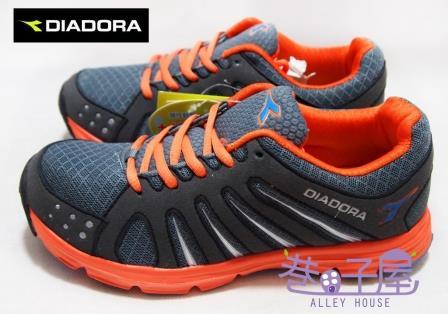 【巷子屋】義大利國寶鞋-DIADORA迪亞多納 男大童寬楦超輕量運動跑鞋 [9118] 灰 189g 超值價$498