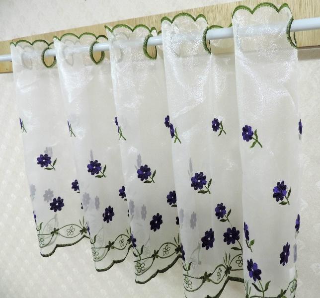 ◤彩虹森林◥《201567》台灣製造刺繡走道紗 刺繡窗紗 造型門簾 玄關簾 短簾 伸縮桿