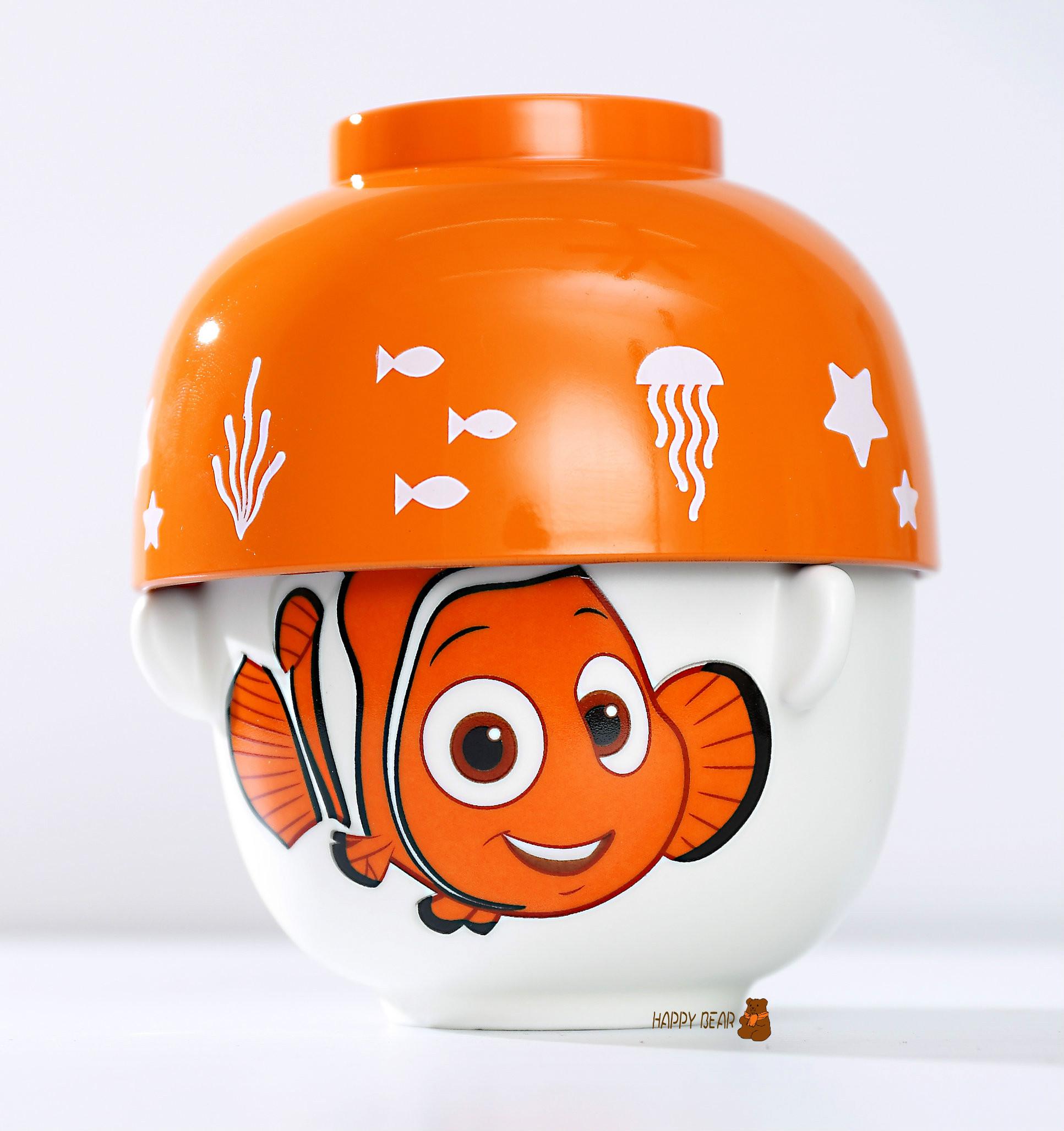 日本正版 Disney 海底總動員2 多莉去那兒  超人氣兩用陶瓷碗(飯碗+湯碗)- 海底總動員 尼莫 Nemo 【快樂熊雜貨舖】