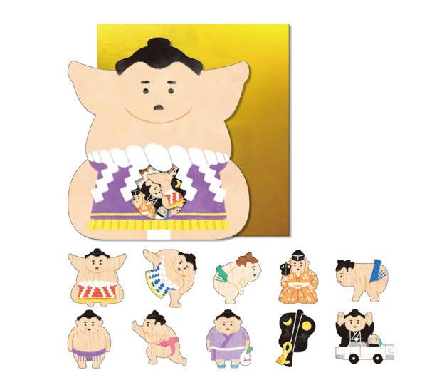 *小徑文化*日本進口 Mind Wave Nippon seal 貼紙包 - 相撲選手 ( 77848 )
