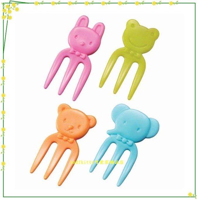 asdfkitty可愛家☆日本MSA大象小熊小兔青蛙食物叉/水果插/便當.點心.三明治叉-日本製